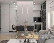 """mieszkanie na Targówku """"biel i szarość"""" / projekt mieszkania, utrzymany w kolorystyce bieli i szarości"""