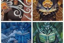 Hogwarts House's / Les 4 maisons regroupées en un tableau. C'est pas fort?