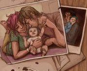 famille lupin et tonks + teddy / Pauvre Teddy. Son père Lupin et sa mère Tonks sont tous les deux morts lors de la grande bataille de Poudlard. Maintenant que lui reste-t-il? Des souvenirs...