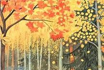 autumn leaves are falling / by Catherine R