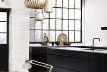 * Bold Black Kitchens * / Black kitchen collection from around the globe.
