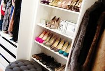Closets / Inspiração de closets, guarda roupas e armários organizados.