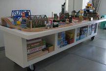 Crianças e organização / Ideias, Dicas, truques e soluções para organizar, decorar e guardar brinquedos.