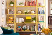 Estantes / Ideias, dicas, truques, organização, decoração e soluções práticas para estantes.