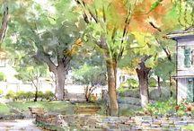 Watercolor Sketches Japan komori Yuzou