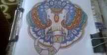 Kolorowanki / Prace które kolorowałam pomimo trudności z utrzymaniem kredek i flamastrów. Niedowłady Kończyn górnych mocno utrudniały ale mój upór i chęć zrobienia pracy dały efekt :)