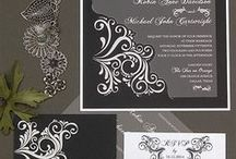 Black & White Wedding Theme / Planning to have a black and white color combination for your wedding? Look at this board for inspiration and then check out #lemontreestationery for all your wedding stationery needs!