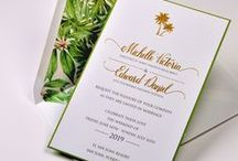 Tropical Wedding / Looking for color, floral prints, and anything tropical for your nuptials? Check out the invitations Lemon Tree Stationery has to offer! Then take a look at these inspirational images to plan your big day!