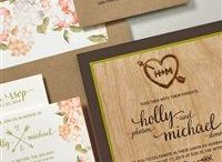 Rustic Wedding / Looking for inspiration for an outdoor or rustic inspired wedding? Check out this board and see what Lemon Tree Stationery has to offer for invitations.