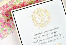 Blush Contemporary Wedding Invitation Collection / A collection of modern, contemporary, and stylish wedding invitations from Lemon Tree Stationery.