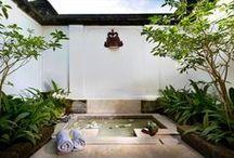 Habitat* bathe, SUBMERGE, soak, steam