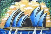 Sydney, Australia paintings by Yelena Dyumin / Yelena Dyumin's paintings of my beautiful city, @dyuminart #Sydney #Australia #artist #Opera_House #Sydney_Harbor