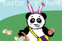 "Easter Egg Hunt / See if you can find any of our 10 hidden pandas! Repin to your own ""Little Pim Easter Basket"" board by 4/20/14 and you could win $75 off your next Little Pim purchase! For details: http://www.littlepim.com/virtual-easter-egg-hunt"