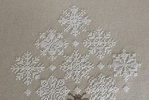 cross stitch: snowflakes