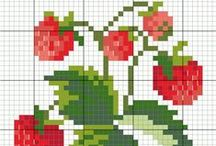 cross stitch: fruits