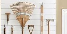 Garage Storage Ideas / Simple ways to clean up your garage and organise your tools.
