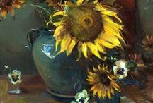 Sunflowers (painting & photography)