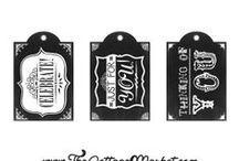 Free Printables / Free printables for decorating, labels for home organizing and for gift wrapping.
