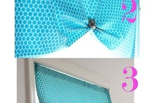 Easy Window Treatments / Affordable and easy to make Window treatments.  Sew and No Sew Window Treatment step-by-step photo tutorials.