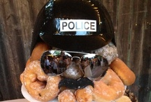 J's Groom Cake and others / Policemen style grooms cake