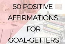Mantras And Affirmations /  Mantras and Affirmations help purify our thoughts and restructure the dynamic of our brains. Use these mantras and affirmations for manifesting a huge change in your life!