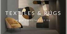 Textiles & Rugs / A board full of beautiful Textiles and Rugs to inspire you for your home interior design projects! Check the Covet House website for more ideas: https://bit.ly/2xdwlx5
