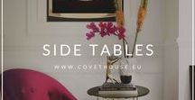 Side Tables / A board full of different ideas of side tables to inspire you! You can find more at Covet House website: https://bit.ly/2KO5A4e