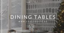 Dining Tables / Feel inspired by this dining tables to get the perfect dining room decor! Check more dining tables ideas at Covet House website: https://bit.ly/2GHnymz