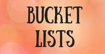 Bucket Lists / Like Lists? Here are some bucket lists to inspire your next trip. Travel bucket lists.