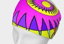 """Stirnband / Von meiner Kunst zum Produkt. Hi friends, have a look to my designs and collection of """"Entfalten statt liften""""."""