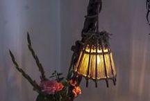 """Rustic Handmade Wooden Floor Lamp """"Pistolero"""" / www.natureistheartist.webgarden.ro"""