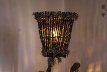 "Rustic Handmade Wooden Floor Lamp ""The Guardian"" / natureistheartist.webgarden.ro"