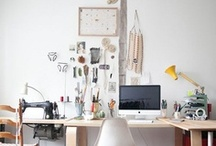 w o r k  / working from home or making a workplace more home-y / by marné .