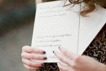 Calligraphy Wedding Inspiration / by Bella Figura Letterpress