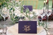 Purple Wedding Inspiration / by Bella Figura Letterpress