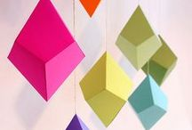 Geometric Design & Decor / Whether you choose basic shapes like triangles or complex polyhedrons, geometric patterns add sleek and symmetrical simplicity to any room. / by BrightNest