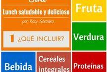 Lunchs saludables y deliciosos / Ideas para enviar a los niños (o incluso a los adultos) lunchs balanceados, sencillos de preparar, deliciosos y variados. / by Roxy González
