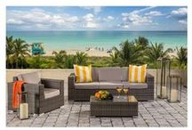 Outdoor Furniture Oasis / Find weather friendly pieces that will turn your outdoor area into a private retreat.