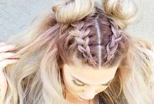hair ideas / I want to be able to braid, bun, do up, do down, twist, curl and tie my hair however I want. Where my hair in styyyyle!