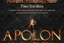 Amazing Photoshop Fonts for your Projects / Great Photoshop Fonts. The image manipulation art for beginners..