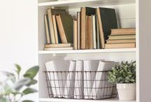 Office / Office decor ideas including furniture, shelf styling, and more.