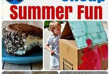 Summer Activities for Kids / Collection of the most fun indoor and outdoor summer activities for kids at home. Tons of free and cheap DIY games to stay cool and never run out of thing to do!