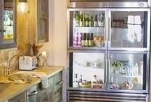Glass Front Refrigerator / My obsession!