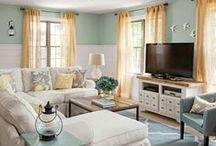 HOME: Living Room and Family Room Ideas / DIY Decorating Ideas for your Living or Family Room.  Find inspiration for decorating your living room with creative ideas.