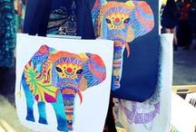 Tote Bags / Save the planet! Use these stylish and creative tote bags for grocery shopping and more!