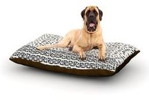 For Your Furry Loved Ones / Pets deserve to be as comfortable as their humans! These dog beds not only give your pet the utmost comfort with their fleece cozy top but they match your house and decor! Kess Inhouse gives your pet some style by adding vivaciously artistic work onto their favorite place to lay, their bed! What's the best part? These are totally machine washable, just unzip the cover and throw it in the washing machine!