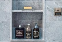 STONE & TILE >> we designed and built / Custom stone and tile designed by The Renovated Home in New York.