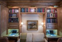 STUDIES & LIBRARIES >> we designed and built / The many office studies and libraries designed and built by The Renovated Home in New York City.