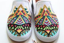 Custom Painted Bucketfeet Slip-ons / Custom painted slip-ons DIY proyect. I used BlickArt & FolkArt multi-surface acrylic paints. https://www.facebook.com/pomgraphicdesign / by Pom Graphic Design