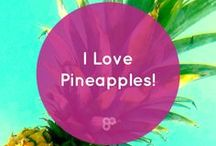 I Love Pineapples / Dear Pineapple, I love you. You are a tropical specimen that I worship on a daily basis. After naming my company after you in 2012, you inspired me to follow my dreams and become my own #girlboss. Your hard exterior has taught me to be strong. Your crown has taught me to stand tall and stand out. Your golden insides have taught me to be sweet and lead with love and kindness. - Kat